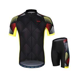 Summer Cycling Jersey Sets MTB Mountain Bike Shirt Uniform Bicycle Padded Shorts
