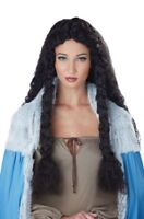 Dark Brown Viking Princess Wig Barbarian Renaissance Medieval Norse Peasant Maid
