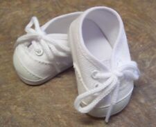 Doll Clothes for 18 inch American Girl - White Canvas Tennis Shoes Sneakers