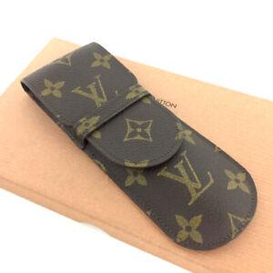 Louis Vuitton Monogram Etui Stylos Pen Case /A0075