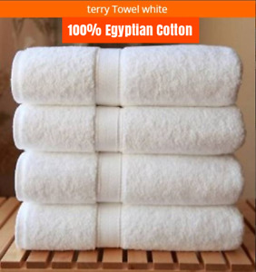 4X White Hotel Quality 100% Egyptian Cotton Big Towel Bath Towels