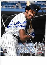 Oscar Gamble Autograph / Signed 8 X 10 Photo New York Yankees 76 & 81 AL Champs