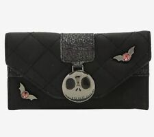 Disney The Nightmare Before Christmas Quilted Jack Icon Black Wallet New