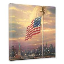 "(New) Thomas Kinkade ""Light of Freedom"" 14 x 14 Gallery Wrap"