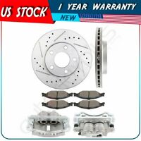 Front Brake Rotors Calipers with Ceramic Pad For 1999 2000 -2002 Ford Mustang
