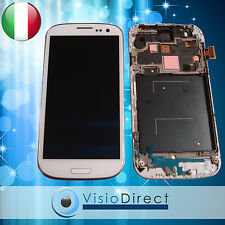 FRAME SAMSUNG GALAXY S3 i9300 VETRO SCHERMO BIANCO+TOUCH SCREEN+LCD RETINA