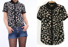 Chiffon Clubwear Short Sleeve Unbranded Tops & Blouses for Women