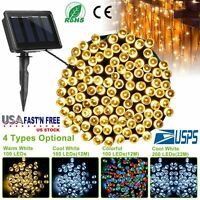 Solar Powered 100/200LED String Fairy Tree Light Outdoor Wedding Party Christmas
