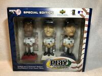 2002 Play Makers Bobble Head 3 Set Derek Jeter Giambi Williams New York Yankees