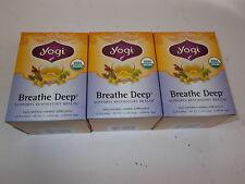 3 x 16 bags YOGI TEA Breathe Deep Herbal Tea Bags (Total: 48)