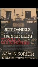 Aaron Sorkin Cast Signed Broadway To Kill A Mockingbird Poster Card Daniels Dire