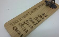 Fathers Day Gift Personalised bottle opener wall Dad Grandad Daddy Uncle wooden