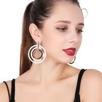 Fashion Hollow Big Circle Earrings Alloy Ear Stud Drop Dangle Earrings For Women