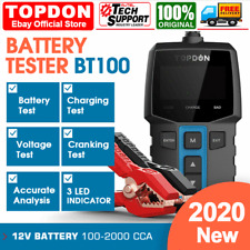 NEW! Car Battery Tester 12V Cranking Charging System Test Scan Tool 100-2000CCA