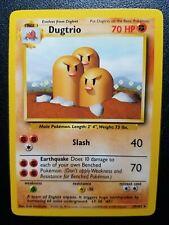 Pokemon Base Set Dugtrio Non-Holo Rare (19/102) Near Mint