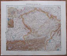 1906 ÖSTERREICH UNGARN 4 historische Landkarten je 49x40,5 cm old maps