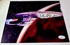 STAR TREK Patrick Stewart SIGNED on Enterprise JSA & Megacon Certified COA NM