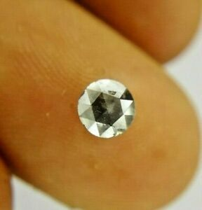 Natural Diamond Rustic Diamond 0.57TCW 4.8 MM Gray Round Rose cut for Ring