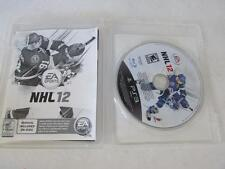 VIDEO GAME- USED--PLAYSTATION 3 NHL 12  DISC MANUAL ON DISC & CASE PS3