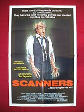 SCANNERS * 1981 ORIGINAL MOVIE POSTER 1SH DAVID CRONENBERG'S HALLOWEEN HORROR NM
