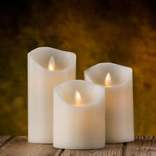 Flameless Candle and Timer 10 key Luminara Moving Wick Remote Included Set of 3