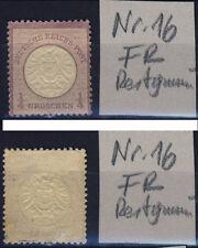 DR 16 Adler großer Brustschild 1/4 Groschen 1872 Restgummi Falzrest