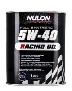 Nulon Racing Oil Full Synthetic 5W-40 1L NR5W40-1 fits SsangYong Kyron 3.2 M3...
