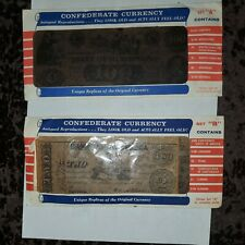 Vintage Reproduction Confederate Currency Sets A & B - 12 pcs