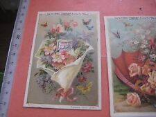 ENGLISH Liebig 0307 -  6 Cards litho SET complete 1891 VERY BIG JARS butterflies