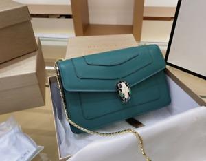 Bvlgari Serpenti Forever Crossbody Bag in Emerald-Dark green  Calfskin