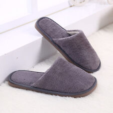 Men Long Cotton Slippers Home Indoor Shoes Winter Warm Slippers