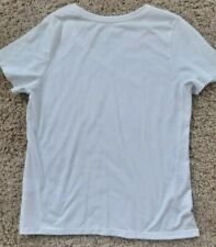 time and true large white new tee shirt
