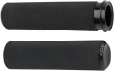 Arlen Ness - 07-327 - Fusion Series Grips, Knurled - Black