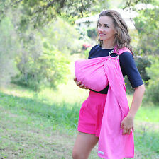 New Walkabout Baby Ring Sling Carrier Pouch Wrap Cotton Pink Newborn Toddler