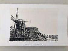 REMBRANDT,'IL MULINO,1641',RARE 1990 SILKSCREEN/SERIGRAPH PRINT