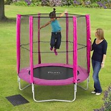 PLUM 6 FOOT 6FT TRAMPOLINE AND ENCLOSURE IN PINK KIDS GIRLS CHILDRENS GARDEN TOY