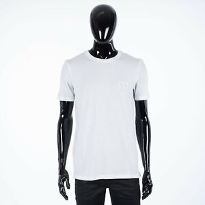 "DIOR 550$ ""CD"" Icon Tshirt In White Cotton Jersey"
