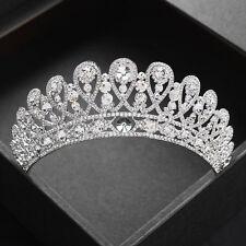 Vogue Wedding Bride Crystal Silver Crown Tiaras Hair Accessoriess Prom Jewelry