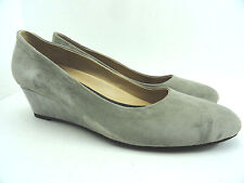 OH! Healthy Heels Women's Willow Suede Taupe Pat Wedge Flat Size US 9 EU40
