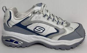 Skechers Work Snow Creek Steel Toe Shoes 76224 WGBL Womens 5.5 White Grey