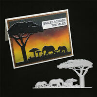 Stanzschablone Elefant Wilde Tiere Weihnachts Hochzeit Geburtstag Karte Album