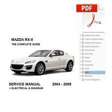 mazda rx8 wiring diagrams shop manual 2006 service repair factory book 06 rx  8 car & truck manuals