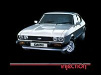 FORD CAPRI MKIII 2.8i INJECTION RETRO POSTER PRINT CLASSIC 80's ADVERT A3
