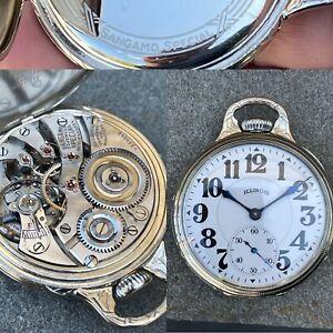1925 High-Grade 23 Jewel Illinois Sangamo Special Railroad Grade Pocket Watch