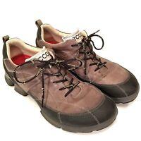 ECCO Biom Walk 1.3 Men's Tan/Black Yak Leather Trail Hiking Shoes 11 US 45 EUR