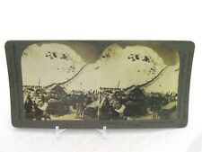 Vtg Keystone Stereoview Card 9191 Bound For Klondike Gold Fields Chilkoot Pass