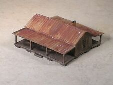 N Scale Double Porch Share Croppers Weathered House