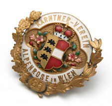 K.u.k. Abzeichen,Kärntner Landsmannschaft,Verein Alpenrose,Wien,badge carinthia