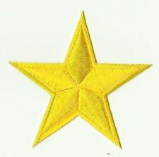 écusson ECUSSON PATCHE THERMOCOLLANT ETOILE STAR JAUNE DIM. 8,5 X 8,5 CMS