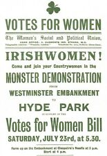 Irish Women Votes for Women Hyde Park Irishwomen Poster